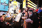 Brian Stokes Mitchell, Kate Mulgrew and Betty Buckley attend The Ghostlight Project to light a light and make a pledge to stand for and protect the values of inclusion, participation, and compassion for everyone - regardless of race, class, religion, country of origin, immigration status, (dis)ability, gender identity, or sexual orientation at The TKTS Stairs on January 19, 2017 in New York City.