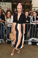Amber Le Bon<br /> arrives for the TopShop UNIQUE catwalk show as part of London Fashion Week SS17, Old Spitalfields Market, London<br /> <br /> <br /> &copy;Ash Knotek  D3155  17/09/2016