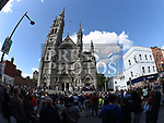 Some of the people who turned out for the rally against voilence in the Drogheda. Photo:Colin Bell/pressphotos.ie