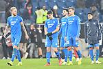v.l.Hoffenheims Kevin Vogt (Nr.22), Hoffenheims Andrej Kramaric (Nr.27), Hoffenheims Florian Grillitsch (Nr.11), Hoffenheims Stefan Posch (Nr.38) und Hoffenheims Nadiem Amiri (Nr.18) nach dem Unentschieden beim Spiel in der Fussball Bundesliga, TSG 1899 Hoffenheim - Fortuna Duesseldorf.<br /> <br /> Foto © PIX-Sportfotos *** Foto ist honorarpflichtig! *** Auf Anfrage in hoeherer Qualitaet/Aufloesung. Belegexemplar erbeten. Veroeffentlichung ausschliesslich fuer journalistisch-publizistische Zwecke. For editorial use only. DFL regulations prohibit any use of photographs as image sequences and/or quasi-video.