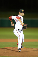 Mesa Solar Sox pitcher Matt Purke (50), of the Washington Nationals organization, during an Arizona Fall League game against the Peoria Javelinas on October 17, 2013 at HoHoKam Park in Mesa, Arizona.  Mesa defeated Peoria 6-1.  (Mike Janes/Four Seam Images)