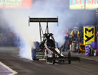 Apr 21, 2017; Baytown, TX, USA; NHRA top fuel driver Scott Palmer during qualifying for the Springnationals at Royal Purple Raceway. Mandatory Credit: Mark J. Rebilas-USA TODAY Sports