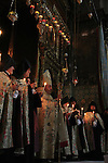 Israel, Jerusalem Old City, Easter, Armenian Orthodox Maundy Thursday ceremony at St. James Cathedral