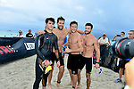 MIAMI BEACH, FLORIDA - APRIL 03: Steven McQueen, Geoff Stults, Scott Eastwood and Bryan Greenberg participates in Life Time South Beach Triathlon benefiting the St. Jude Children Hospital at Lummus Park on Sunday April 3, 2016 in Miami Beach, Florida. ( Photo by Johnny Louis / jlnphotography.com )