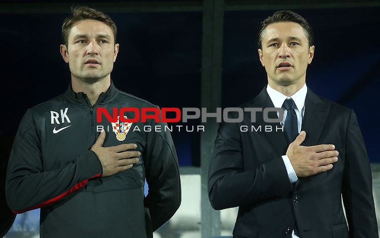 13.10.2014., Croatia, Osijek - Qualification for the European Football Championship 2016 in France, Group H, 3 rd round, Croatia - Azerbaijan. Robert Kovac, Niko Kovac. <br /> <br /> Foto &copy;  nph / PIXSELL / Igor Kralj