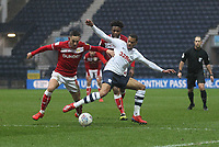 Preston North End's Lukas Nmecha battles with  Bristol City's Josh Brownhill<br /> <br /> Photographer Mick Walker/CameraSport<br /> <br /> The EFL Sky Bet Championship - Preston North End v Bristol City - Saturday 2nd March 2019 - Deepdale Stadium - Preston<br /> <br /> World Copyright © 2019 CameraSport. All rights reserved. 43 Linden Ave. Countesthorpe. Leicester. England. LE8 5PG - Tel: +44 (0) 116 277 4147 - admin@camerasport.com - www.camerasport.com