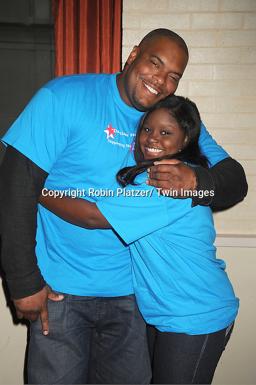 Sean Ringgold and Shenell Edmonds attends the Daytime Stars and Strike Charity Event benefitting The American Cancer Society on October 7, 2012 at Bowlmor Lanes in Times Square in New York City.
