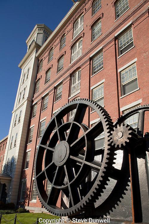 Massachusetts Mills, Lowell, MA w/ gears in front