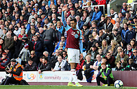 Burnley's Dwight McNeil prepares to take a free-kick<br /> <br /> Photographer Rich Linley/CameraSport<br /> <br /> The Premier League - Saturday 13th April 2019 - Burnley v Cardiff City - Turf Moor - Burnley<br /> <br /> World Copyright © 2019 CameraSport. All rights reserved. 43 Linden Ave. Countesthorpe. Leicester. England. LE8 5PG - Tel: +44 (0) 116 277 4147 - admin@camerasport.com - www.camerasport.com
