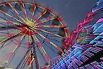 The ferris wheel at the Memorial Wheel carnival in Mill Valley, CA.