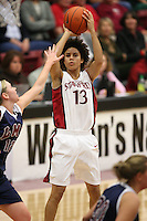 9 November 2006: Stanford Cardinal Cissy Pierce during Stanford's 88-61 win in the first round of the preseason Women's National Invitation Tournament against Loyola Marymount Lions at Maples Pavilion in Stanford, CA.
