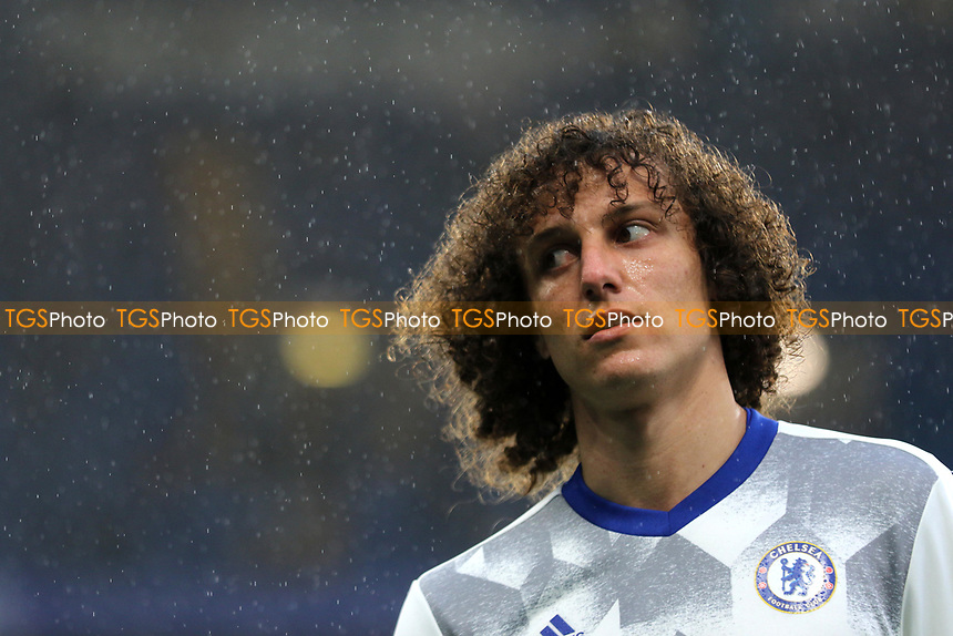 Chelsea's David Luiz pre-match during Chelsea vs Watford, Premier League Football at Stamford Bridge on 15th May 2017