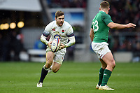Elliot Daly of England in possession. Natwest 6 Nations match between England and Ireland on March 17, 2018 at Twickenham Stadium in London, England. Photo by: Patrick Khachfe / Onside Images