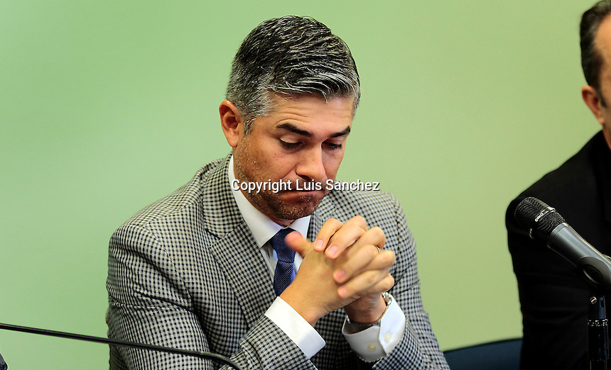 Quer&eacute;taro, Qro. 7 de febrero de 2017.- Rueda de prensa&nbsp;&quot;Estrategias de Competitividad&quot; con el fin de fortalecer la econom&iacute;a en la ciudadan&iacute;a as&iacute; lo afirm&oacute; el alcalde capitalino Marcos Aguilar.&nbsp;<br /> Foto: Luis Sanchez