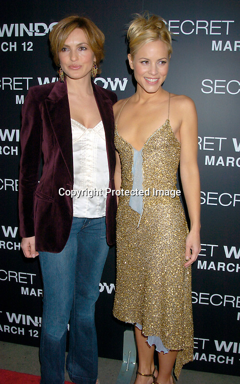 "Mariska Hargitay and Maria Bello ..at the World Premiere of ""Secret Window"" on March 7, 2004 at the Loews Lincoln Square.                                   Photo by Robin Platzer, Twin Images"