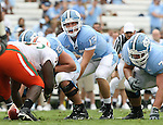 06 October 2007: North Carolina's T.J. Yates (13). The University of North Carolina Tar Heels defeated the University of Miami Hurricanes 33-27 at Kenan Stadium in Chapel Hill, North Carolina in an Atlantic Coast Conference NCAA College Football Division I game.