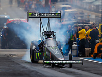 Jul 23, 2017; Morrison, CO, USA; NHRA top fuel driver Brittany Force during the Mile High Nationals at Bandimere Speedway. Mandatory Credit: Mark J. Rebilas-USA TODAY Sports