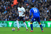 7th January 2018, Wembley Stadium, London, England;  FA Cup football, 3rd round, Tottenham Hotspur versus AFC Wimbledon; Moussa Sissoko of Tottenham Hotspur is under pressure from Tom Soares of AFC Wimbledon