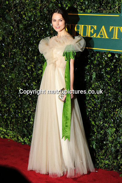 NON EXCLUSIVE PICTURE: MATRIXPICTURES.CO.UK<br /> PLEASE CREDIT ALL USES<br /> <br /> WORLD RIGHTS<br /> <br /> Kiera Knightley attends the Evening Standard Theatre Awards 2017 at Theatre Royal, Drury Lane in London. <br /> <br /> DECEMBER 3rd 2017<br /> <br /> REF: MES 172784