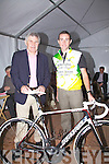 Eoin Ryan on the right pictured here with Mick O'Dwyer at the launch of the Race Around Ireland Charity Race on Sunday night last in Waterville, the race will start in Trim, Co Meath on the 9th September & finish in Navan a total distance of 2100Km.  Five local charities in Kerry will benefit from the event.