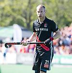 BLOEMENDAAL   - Hockey -  2e wedstrijd halve finale Play Offs heren. Bloemendaal-Amsterdam (2-2) . A'dam wint shoot outs. Teun Rohof (A'dam).  COPYRIGHT KOEN SUYK