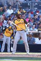 Amed Rosario of the World Team bats against the USA Team during The Futures Game at Petco Park on July 10, 2016 in San Diego, California. World Team defeated USA Team, 11-3. (Larry Goren/Four Seam Images)