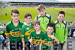 Paudie and Ross O'Leary (Gneeveguilla), Brian O'Leary (Coolick), Conor O'Leary (Kilcummin) with Oisin O'Leary and Jack O'Leary (Gneeveguilla), Kerry fans pictured at Fitzgerald Stadium, Killarney on Sunday last.