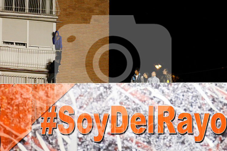 suporters  during La Liga match between Rayo Vallecano and Real Madrid at Vallecas Stadium in Madrid, Spain. April 08, 2015. (ALTERPHOTOS/Caro Marin)
