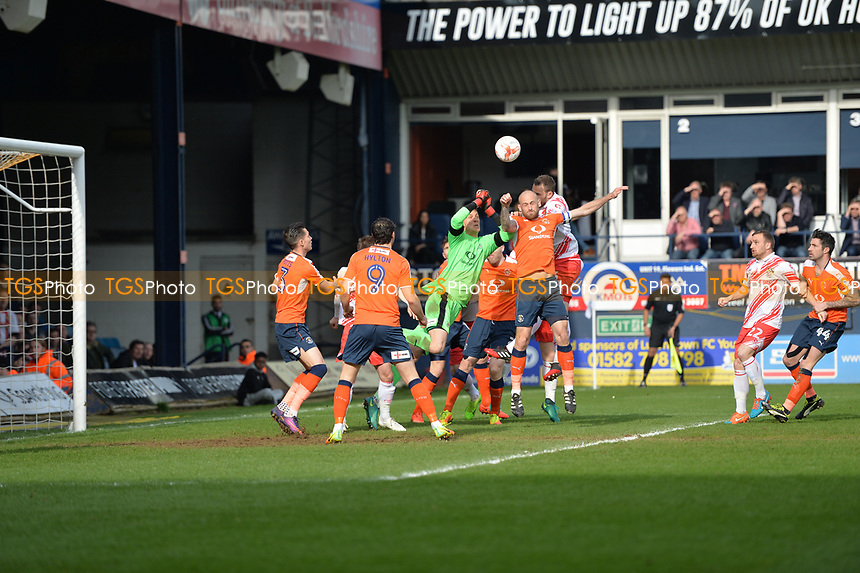 luke wilkinson scores the opener during Luton Town vs Stevenage, Sky Bet EFL League 2 Football at Kenilworth Road on 11th March 2017
