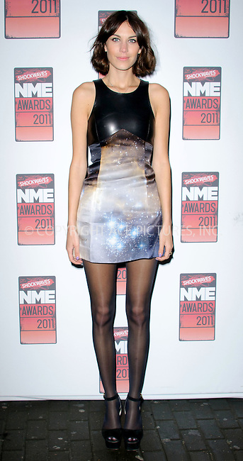 WWW.ACEPIXS.COM . . . . .  ..... . . . . US SALES ONLY . . . . .....February 23 2011, London....Alexa Chung at the Shockwaves NME Awards held at the O2 Academy Brixton on February 23 2011 in London ....Please byline: FAMOUS-ACE PICTURES... . . . .  ....Ace Pictures, Inc:  ..Tel: (212) 243-8787..e-mail: info@acepixs.com..web: http://www.acepixs.com