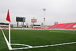 27 April 2007: A view across the field from the southwest corner.  BMO Field in Toronto, Ontario, Canada on the day before it was scheduled open with the inaugural home match of Major League Soccer expansion team Toronto FC.