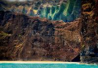 Beach off Napali Coast, Kauai, Hawaii
