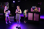 Claire Autran, Azalea Lewis,  Maggie Metnick and Dani Martineck during The Dare Tactic production of 'A Roller Rink Temptation' at  WOW Cafe on May 25, 2018 in New York City.