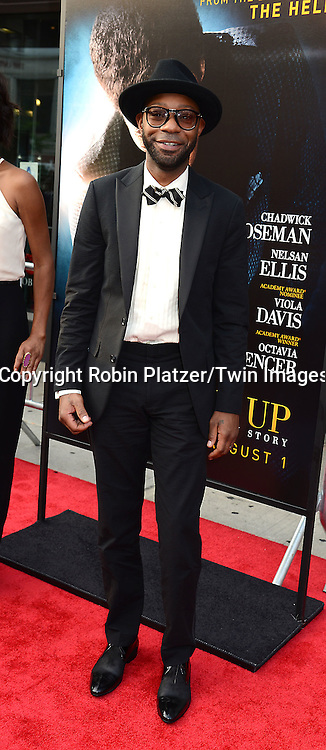 "actor Nelsan Ellis attends the World Premiere of ""Get On Up"" at the Apollo Theater in Harlem in New York Citiy on July 21, 2014."