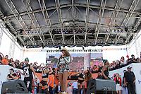 SAO PAULO, SP, 01.05.2015 - DIA - TRABALHO -  Ludmilla durante apresentação em evento promovido pela Força Sindical para celebrar o Dia do Trabalho na Praça Campo de Bagatelle, em Santana, região norte de São Paulo, nesta sexta-feira, 01. (Foto: Fernando Neves/ Brazil Photo Press).