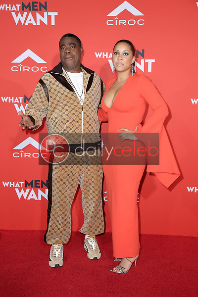 "Tracy Morgan, Megan Wollover<br /> at the ""What Men Want"" Premiere, Village Theater, Westwood, CA 01-28-19<br /> David Edwards/DailyCeleb.com 818-249-4998"