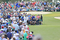 Jordan Spieth (USA) on the 3rd tee during the 2nd round at the The Masters , Augusta National, Augusta, Georgia, USA. 12/04/2019.<br /> Picture Fran Caffrey / Golffile.ie<br /> <br /> All photo usage must carry mandatory copyright credit (© Golffile | Fran Caffrey)
