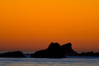 Sunset on California Central Coast at San Simeon California