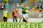 Niall O'Shea Kerry in action against Patrick Clifford Limerick in the Munster Junior Football Championship at Fitzgerald Stadium in Killarney on Sunday.