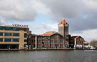 Nederland Zaandam 2016.  De oude Verkade fabriek aan de Zaan. In het pand zijn nu diverse bedrijven en VersKade gevestigd.  Foto Berlinda van Dam / Hollandse Hoogte