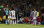 Sergio Ramos of Real Madrid gets Juan Cuadrado of Juventus sent off during the Champions League Final match at the Millennium Stadium, Cardiff. Picture date: June 3rd, 2017.Picture credit should read: David Klein/Sportimage