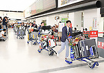 Japan team group (JPN), <br /> AUGUST 20, 2016 - Artistic Gymnastics : <br /> Japanese gymnasts arrive at Narita Airport in Chiba, Japan. <br /> Japan won the gold medal <br /> at the Artistic Gymnastics men's team competition <br /> in the Rio 2016 Olympic Games. <br /> (Photo by AFLO SPORT)