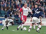 Paul Gascoigne tiptoes through the Raith defence, November 1996