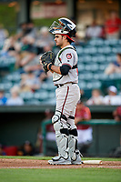Richmond Flying Squirrels catcher Aramis Garcia (14) during a game against the Altoona Curve on May 15, 2018 at Peoples Natural Gas Field in Altoona, Pennsylvania.  Altoona defeated Richmond 5-1.  (Mike Janes/Four Seam Images)