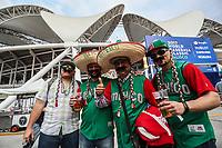 Fan&aacute;ticos del Beisbol disfrazados con sombreros de Charros y jersey de Mexico en la fachada del Estadio Olimpico Panamericano o Estadio Charros de Jalisco.....<br />  Aspectos del partido Mexico vs Italia, durante Cl&aacute;sico Mundial de Beisbol en el Estadio de Charros de Jalisco.<br /> Guadalajara Jalisco a 9 Marzo 2017 <br /> Luis Gutierrez/NortePhoto.com