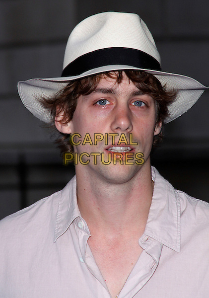 JOHNNY BORRELL of RAZORLIGHT .Royal Academy of Arts Summer Exhibition Preview Party at the Royal Academy, Piccadilly, London, England. June 3rd, 2009..portrait headshot white shirt fedora hat pale pink .CAP/AH.©Adam Houghton/Capital Pictures