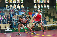 Ramy Ashour (EGY) vs. Marwan Elshorbagy (EGY) in the second round of the 2014 METROsquash Windy City Open held at the University Club of Chicago in Chicago, IL on February 28, 2014