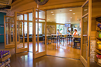 Glass doors at Whole Foods, Napa