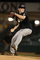 Third Baseman/Pitcher Conor O'Brien of Tampa Jesuit High School, a Florida commitment, participates in the Team One Futures Game East at Roger Dean Stadium in Jupiter, Florida September 25, 2010..  Photo By Mike Janes/Four Seam Images