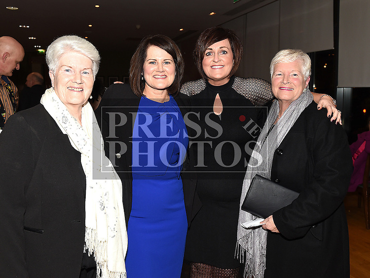 Catherine Casey celebrating her 50th birthday with friends Ann Healy, Lorraine McGowan and Vera Brennan at the Garth Brooks Experience at City North hotel. Photo:Colin Bell/pressphotos.ie